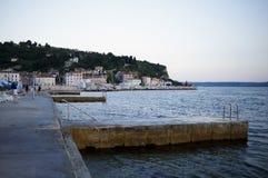 Slovenien/Piran hamn Fotografering för Bildbyråer
