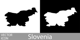 Slovenien specificerade översikten vektor illustrationer
