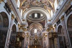 Slovenien St Nicholas Cathedral arkivbilder