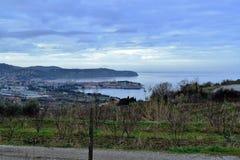 Sloveno Istra di Capodistria - fare un'escursione e ciclismo Fotografie Stock