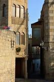 Slovensk ambassad i Baku, bland smala gator i den gamla staden Royaltyfria Foton