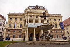 Slovensk nationell opera i Bratislava Fotografering för Bildbyråer