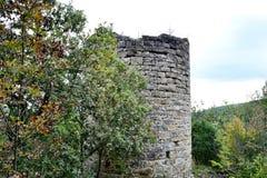 Slovenska Istra - medeltida torn Fotografering för Bildbyråer