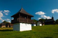 从Slovenske Pravno -斯洛伐克村庄的博物馆, JahodnÃcke hà ¡ je,马丁,斯洛伐克的村庄 免版税图库摄影