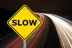 Slow. Speed is more secure to achive your goals Stock Image