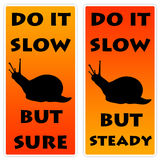 Slow action. Doing it slow but sure and steady Stock Photo