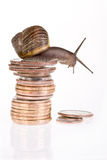 Slow banking Stock Photo