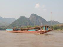 Boat trip on the Mekong River. Luang Phabang, Laos, Asia stock photos