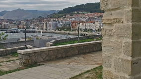 Slow Cathedral of Castro Urdiales 30 stock video footage