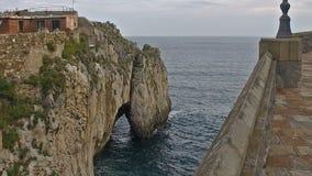 Slow Cliffs Castro urdiales 28 stock video footage