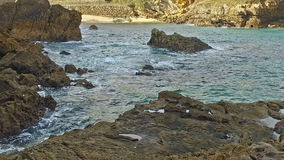 Slow Cliffs Ermita de Santa Justa 17 stock video