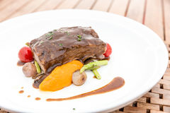 Slow cook roasted Rib Royalty Free Stock Photography