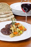 Slow Cooked Beef Shank Served with Red Wine Royalty Free Stock Photos