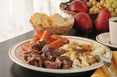 Slow cooked chuck roast Royalty Free Stock Images