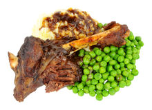 Slow cooked Lamb Shank Meal Royalty Free Stock Photo