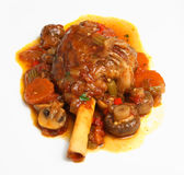 Slow-Cooked Lamb Shank with Vegetables Royalty Free Stock Images