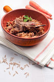 Slow cooked meat and rice Royalty Free Stock Photo