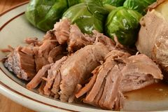 Slow cooked pork roast Royalty Free Stock Photo