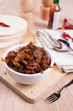 Slow cooked pulled meat pork and tortillas pitas Stock Image