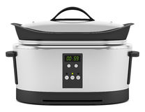Slow cooker isolated on white Royalty Free Stock Image