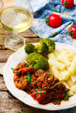 Slow Cooker Mediterranean-Style Chicken. Royalty Free Stock Photo