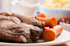 slow cooker pot roast stock photography