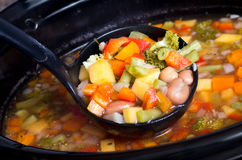 Slow cooker vegetable soup Royalty Free Stock Photography