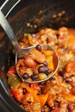 Slow cooker vegetarian chili Stock Image