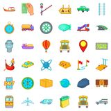 Slow delivery icons set, cartoon style Stock Photography