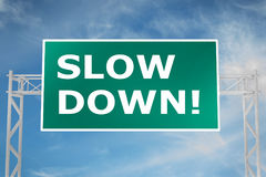 Slow Down! concept Stock Image