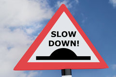 Slow Down! concept Royalty Free Stock Photos