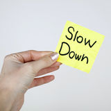 Slow Down Royalty Free Stock Images