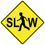 Slow Down para crianças Foto de Stock Royalty Free