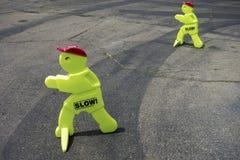 Slow Down Speed Traffic Control. Peculiar Traffic Control Sign near Children Playground in Rancho Bernardo San Diego Country Inland, California  United States Stock Photos