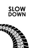 Slow down tire track background Stock Image