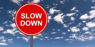 Free Slow Down Traffic Sign Stock Photos - 160584823