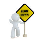 Slow down zone Stock Photos