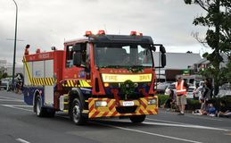 slow driving fire truck Stock Images