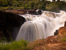 Slow falls in Africa. Natural waterfall in a nature reserve in Africa Royalty Free Stock Image