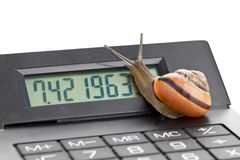 Slow finance Stock Images