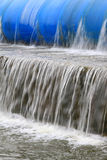 Slow flow of water. Closeup of pictures, slow flow of water Stock Image