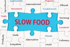 Slow food concept Stock Photos