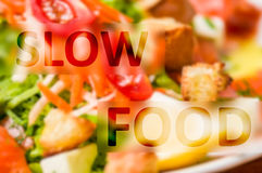 Slow food Royalty Free Stock Photos