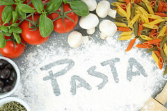 Slow food pasta Royalty Free Stock Photography