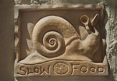 Slow food snail Stock Photography
