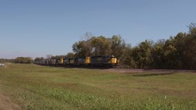 Slow freight train in Oklahoma
