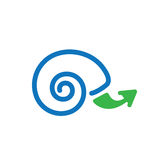 Slow Growth Icon with Snail Shell Royalty Free Stock Photos