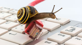 Slow internet. Photo icon for slow internet access. broadband connection is not available everywhere Royalty Free Stock Photography