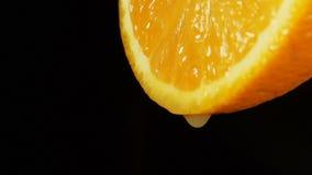 SLOW: A juice drops falls from an orange