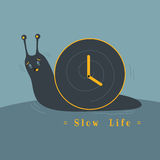 Slow life. Sometime, feel your life too slow like lazy snail Royalty Free Stock Photos